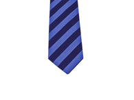 Bold Blue Striped Cotton Tie - Fine And Dandy