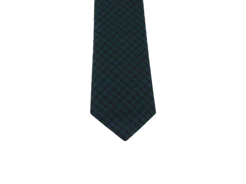 Green Check Seersucker Tie - Fine And Dandy
