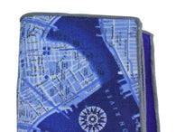 NYC Streets Panelled Pocket Square - Fine And Dandy