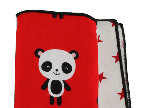 Panda Bear & Stars Panelled Pocket Square - Fine And Dandy