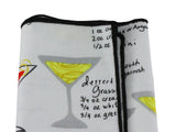 Cocktail Recipes Cotton Pocket Square - Fine And Dandy