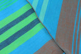 Blue & Green Striped Cotton Neckerchief