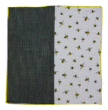 Bees & Chambray Panelled Pocket Square