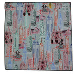 NYC Landmarks Cotton Pocket Square