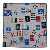 Sunbathers Cotton Pocket Square