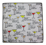 Cocktail Recipes Cotton Pocket Square