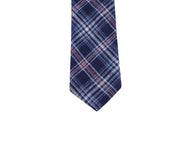 Blue Tartan Flannel Tie - Fine and Dandy