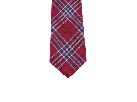 Raspberry Tartan Flannel Tie - Fine and Dandy