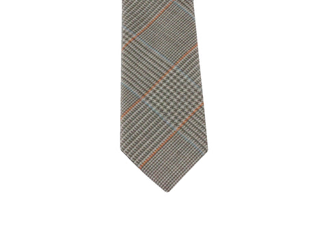 Taupe Glen Paid Wool Tie - Fine and Dandy