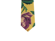 Raw Silk Floral Tie - Fine and Dandy