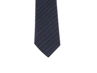 Black Striped Wool Tie - Fine and Dandy