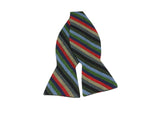 Autumnal Striped Cotton Bow Tie - Fine and Dandy