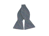 Woven Dotted Stripe Chambray Bow Tie - Fine and Dandy