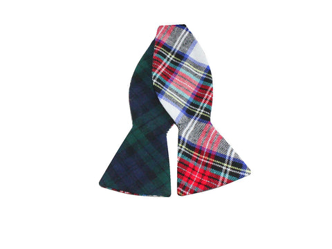Tartan Flannel Reversible Bow Tie - Fine and Dandy