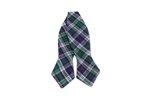 Green Tartan Cotton Bow Tie - Fine and Dandy
