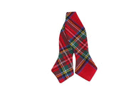 Red Tartan Flannel Bow Tie - Fine and Dandy