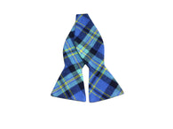 Royal Blue Plaid Flannel Bow Tie - Fine and Dandy
