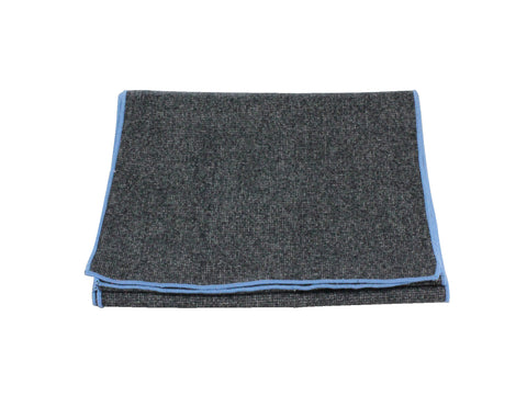 Black Donegal Tweed Wool Scarf - Fine And Dandy