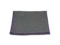 Charcoal Striped Wool Scarf - Fine And Dandy