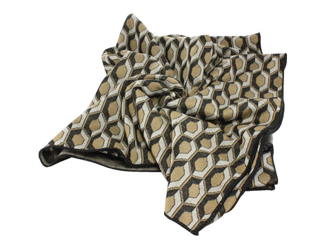 Gold Deco Blanket Scarf - Fine And Dandy