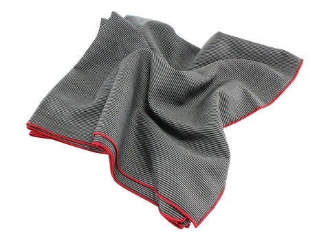 Black Striped Wool Blanket Scarf - Fine And Dandy