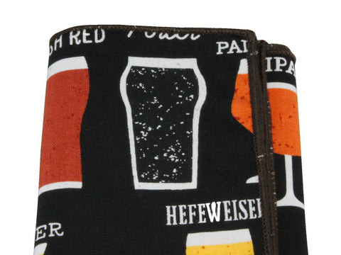 Beer Cotton Pocket Square - Fine And Dandy