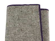 Oatmeal Donegal Tweed Wool Pocket Square - Fine And Dandy