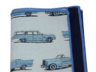 Classic Cars Panelled Pocket Square - Fine And Dandy