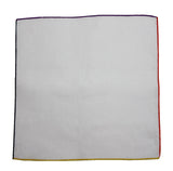 4 Colored Edge Linen Blend Pocket Square - Fine And Dandy