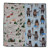 Camping Bears Panelled Pocket Square - Fine And Dandy
