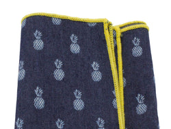 Pineapples Chambray Pocket Square - Fine and Dandy