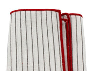 Black Striped Linen Pocket Square - Fine and Dandy