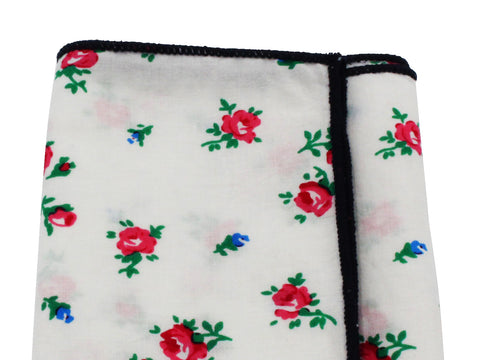 Roses Cotton Pocket Square - Fine and Dandy