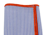 Blue Striped Cotton Pocket Square