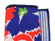Floral & Striped Panelled Pocket Square - Fine and Dandy