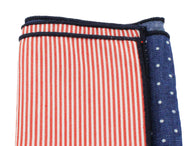 Striped & Polka Dot Panelled Pocket Square - Fine and Dandy