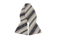 Washed Striped Linen Bow Tie - Fine and Dandy