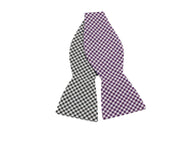 Gingham Reversible Bow Tie - Fine and Dandy