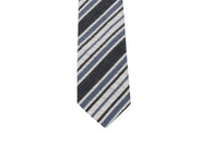 Grey Striped Seersucker Tie - Fine and Dandy