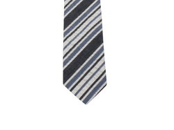 d825f6899909 Grey Striped Seersucker Tie - Fine and Dandy