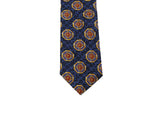 Blue Medallion Silk Tie - Fine and Dandy