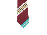 Burgundy Striped Silk Tie - Fine and Dandy
