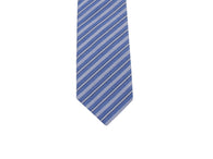 Blue Striped Cotton Tie - Fine and Dandy