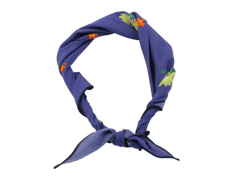 Periwinkle Floral Cotton Neckerchief - Fine And Dandy