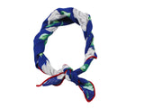 Blue Floral Cotton Neckerchief - Fine And Dandy