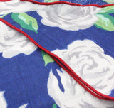 Blue Floral Cotton Neckerchief