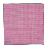 Pink Gingham Seersucker Pocket Square
