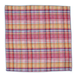 Pink Plaid Double Sided Pocket Square