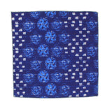 Ocean Blue Floral Cotton Pocket Square