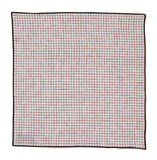 Red Check Linen Pocket Square